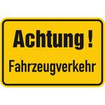Achtung! Fahrzeugverkehr