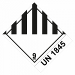 Klasse 9 Verschiedene gefährliche Stoffe u. Gegenstände mit UN 1845 - Gefahrgutaufkleber