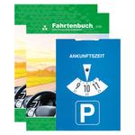 2 Fahrtenbücher für PKW DIN A5 mit 1 Parkscheibe im Set