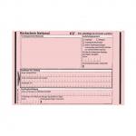 Rückschein national rosa 100-er Pack