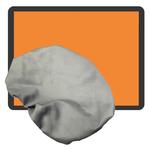 Warntafel orange blanko aus Stahlblech starr verzinkt retroreflektierend inkl. Abdeckhaube