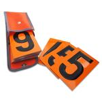Ziffernsatz für Gefahrgut-Warntafel orange retroreflektierend