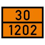 Warntafel orange mit 30-1202