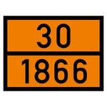 Warntafel orange mit 30-1866