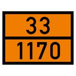 Warntafel orange mit 33-1170