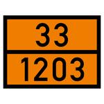 Warntafel orange mit 33-1203