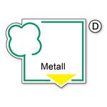 "Recycling-Aufkleber ""Metall"" PVC-Folie"