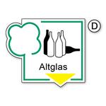 """Recycling-Schild """"Altglas"""""""