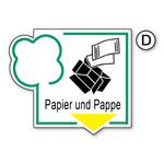 """Recycling-Schild """"Papier und Pappe"""""""