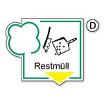 """Recycling-Schild """"Restmüll"""""""