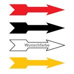 Richtungspfeil rechts links (B x H) 15 x 3 mm in verschiedenen Farben