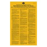 Betriebsvorschriften für Krane, Unfallverhütungsvorschrift aus Aluminium