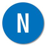Neutralleiter N Aufkleber