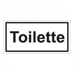 """Hinweisschild """"Toilette"""" Aufkleber Folie selbstklebend"""