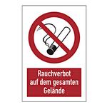 """Hinweisschild """"Rauchverbot auf dem gesamten Gelände"""""""