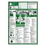 Anleitung zur Ersten Hilfe aus Kunststoff 410 x 595 mm