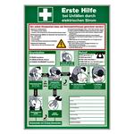 Ersten Hilfe bei Unfällen durch elektrischen Strom praxisbewährt aus Kunststoff