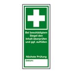 """Aufkleber """"Erste Hilfe"""" Siegel für Betriebsverbandskästen mit Beschriftungsfeld"""