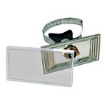 Universalhalter mit Spannvorrichtung und Abdeckung  zur Rohrleitungskennzeichnung