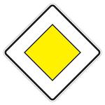 """Verkehrsschild """"Vorfahrtsstraße"""" aus Aluminium"""