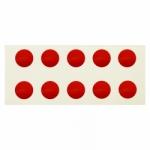 Markierungspunkte rot 100 Aufkleber Ø 10 mm