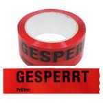 "Klebeband / Absperrband ""Gesperrt, Prüfer:"" 50 mm x 66 lfm"