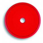 Markierungsplakette rot Ø 40 mm gelocht
