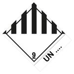 Klasse 9 Verschiedene gefährliche Stoffe u. Gegenstände UN-Nummer - Gefahrzettel 10 x 12 cm