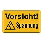 """Warnschild Kombischild """"Vorsicht! Spannung"""""""