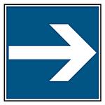 """Parkplatzschild """"Richtungspfeil"""" Aluminium oder Folie in verschiedenen Größen"""