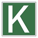 """Transportkennzeichen """"Kombiverkehr Deutschland"""" Aufkleber 200 x 200 mm"""