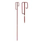 Einschlagpfosten Laterneneisen für Absperrbänder und Warnbänder