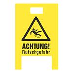 """Warnaufsteller """"Achtung Rutschgefahr"""" gelb Hohlkammer-Stegplatten"""