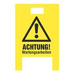 """Warnaufsteller """"Achtung Wartungsarbeiten"""" gelb Hohlkammer-Stegplatten"""