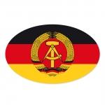 Autoaufkleber DDR schwarz rot gold mit DDR Emblem Hammer Sichel und Ehrenkranz