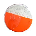 Aufbewahrungsbox für Tachoscheiben orange