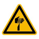 """Warnzeichen """"Warnung vor spitzem Gegenstand"""" DIN EN ISO 7010-W022, Aluminium geprägt SL 200 mm"""