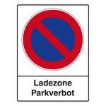 "Parkverbotsschild ""Ladezone"" Folie selbstklebend 300 x 400 mm"