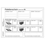 Palettenschein Lademittelnachweis Deutsch/Englisch DIN A5 quer Block á 25 Satz 4-fach