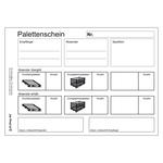 Palettenschein Lademittelnachweis Deutsch mit Eindruck DIN A5 quer Block á 25 Satz 4-fach