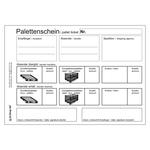 Palettenschein Lademittelnachweis Deutsch/Englisch mit Eindruck DIN A5 quer Block á 25 Satz 4-fach