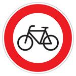 """Verkehrsschild """"Verbot für Radfahrer"""" aus Aluminium"""
