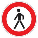 """Verkehrsschild """"Verbot für Fußgänger"""" aus Aluminium"""