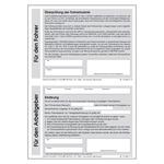 Überprüfung der Fahrerlaubnis DIN A5