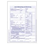 Kfz-Mietvertrag und Rechnung Block DIN A4