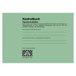 Kontrollbuch mit 30 Tageskontrollblättern