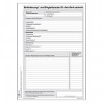 Beförderungs- und Begleitpapier für den Werkverkehr - neutral DIN A4 Block mit 100 Blatt
