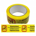 "Prüfer:/"" Rolle 50 mm x 66 m Absperrband Paketband 36 Rollen Klebeband /""Gesperrt"