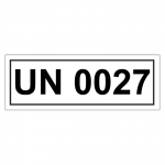 UN-Verpackungskennzeichen mit UN 0027
