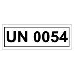 UN-Verpackungskennzeichen mit UN 0054